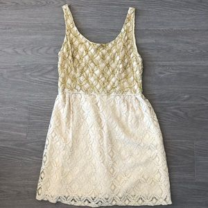 ANNA SUI Authentic $380 Creme Brulee Scoop Dress